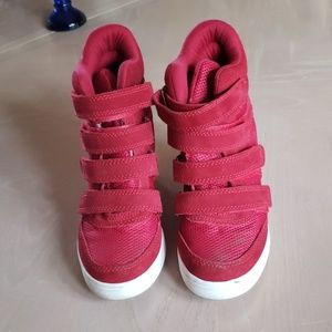 Red Aldo sneakers